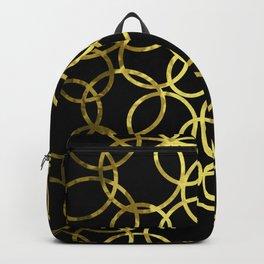 Gold Circle Abstract Backpack