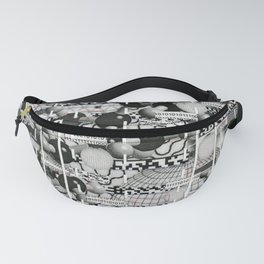 Divergence Toward Chaotic Attractors (P/D3 Glitch Collage Studies) Fanny Pack