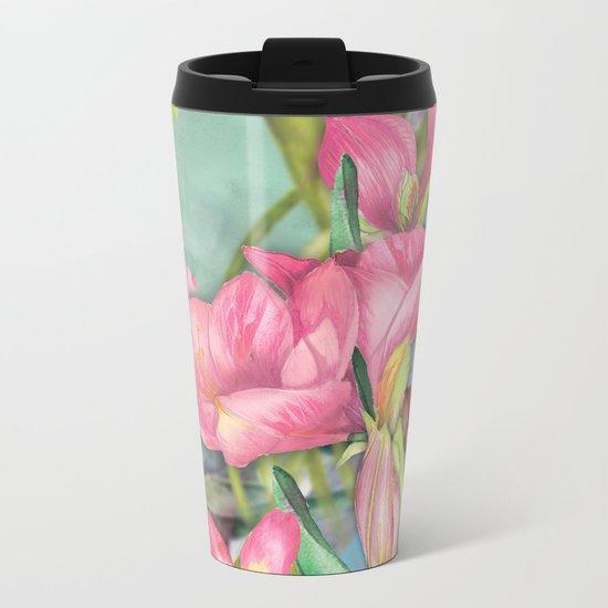 Macro Flower #21 Metal Travel Mug