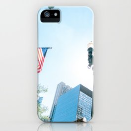 View on a corner in Chicago, Illinois | USA travel photography iPhone Case