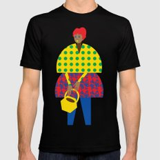 Basket Girl MEDIUM Mens Fitted Tee Black