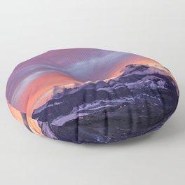 Himalayas Fishtail Mountain Sunset Floor Pillow