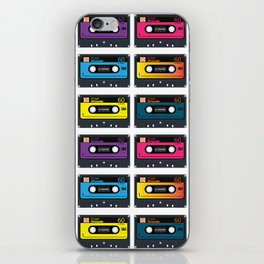 Vintage audio tape iPhone Skin