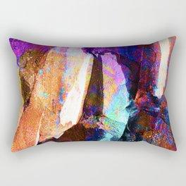 ABSTRACT NATURE // NEW ZEALAND // RAINBOW ROCKS Rectangular Pillow