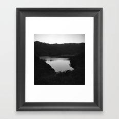 Lake at Dusk Framed Art Print