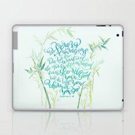 Be Strong and Courageous - Joshua 1:9 - bamboo Laptop & iPad Skin