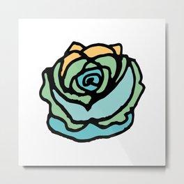Rock Rose Green Metal Print