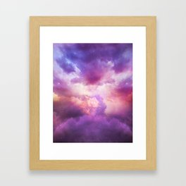 The Skies Are Painted Framed Art Print