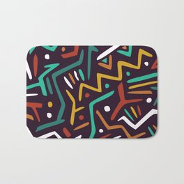 Fun abstract festive pattern Bath Mat