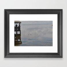 Outerbanks Bay Landscape Scene Framed Art Print