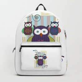 Striped Owls Backpack