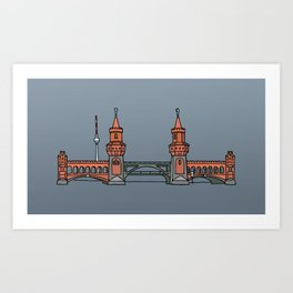 Oberbaum Bridge in Berlin Art Print