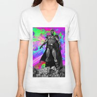 magneto V-neck T-shirts featuring Magneto by Lord Rocco