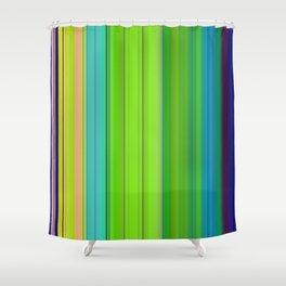 gren vertical stripes Shower Curtain
