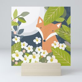 Peeping Fox Mini Art Print