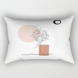 Abstract Spots Marks Rectangular Pillow