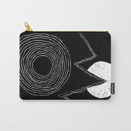 Minimal Sun Pacman Carry-All Pouch