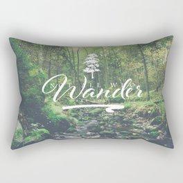 Mountain of solitude - text version Rectangular Pillow
