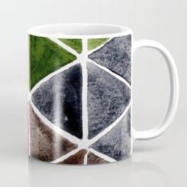 Bright Triangle Watercolor Coffee Mug