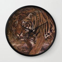Vintage Tiger Painting (1909) Wall Clock