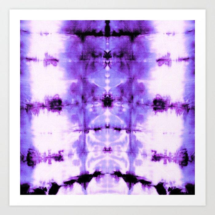 Violet Shibori Satin Art Print