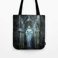 bible verses Tote Bags featuring The Dying Verses 2 by Helheimen Design