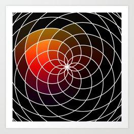 Dark Kaleidoscope Art Print