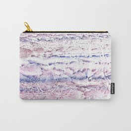 Blue purple marble hand-drawn watercolor pattern Carry-All Pouch