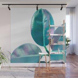 Ficus Elastica Iridescent Glam #1 #tropical #foliage #decor #art #society6 Wall Mural