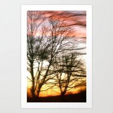 painted sky Art Print