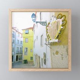Mouraria Lisbon Heart Framed Mini Art Print