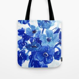 blue stillife Tote Bag