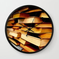 books and books and books... Wall Clock