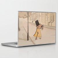 moustache Laptop & iPad Skins featuring Moustache by Loezelot