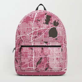 MINNEAPOLIS City Map | Minnesota US | Pink | More Colors, Review My Collections Backpack