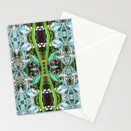 Jade Hearts Stained Glass Patten Stationery Cards