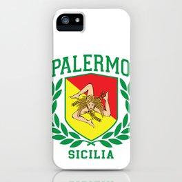Sicilia Flag and Shield with Trinacria - Palermo iPhone Case