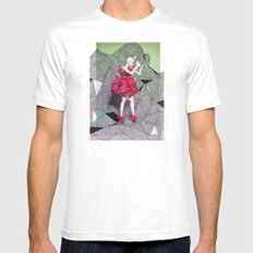 Alexander McQueen Doodle Bomb by Downtown Doodler Mens Fitted Tee White MEDIUM