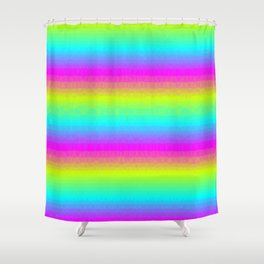 Neon Stripes Shower Curtain