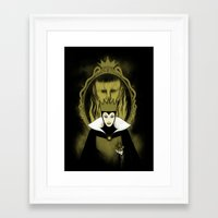 evil queen Framed Art Prints featuring Evil Queen by Pigboom Art
