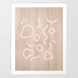 Pink Confetti Art Print