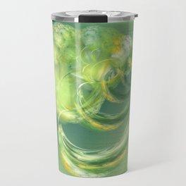 The green Brain Travel Mug