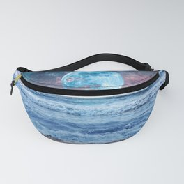 Super Moon Night Waves Fanny Pack