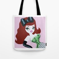 ginger Tote Bags featuring Ginger by Little Bunny Sunshine