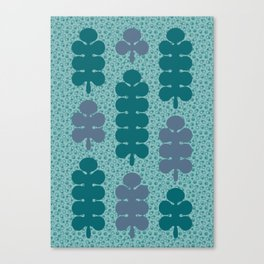 Forest after rain. Tree pattern Canvas Print