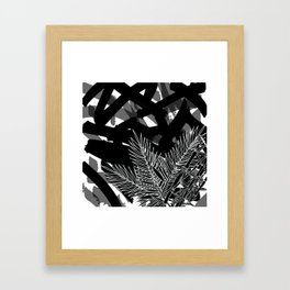 Black Bamboo Palm Framed Art Print