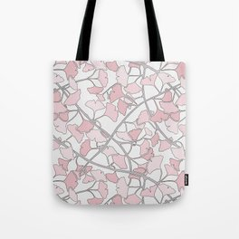 Ginkgo Leaves in Light Pinks Tote Bag