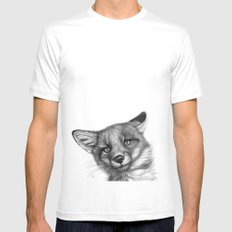 Fox Cub G139 White Mens Fitted Tee MEDIUM
