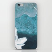 baloon iPhone & iPod Skins featuring moon baloon by stefania coniglio