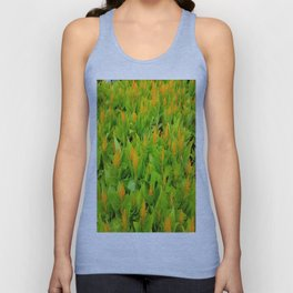 Field of Celosia Unisex Tank Top
